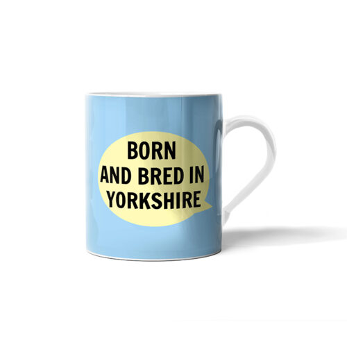 Blue Born And Bred In Yorkshire Baby Mug