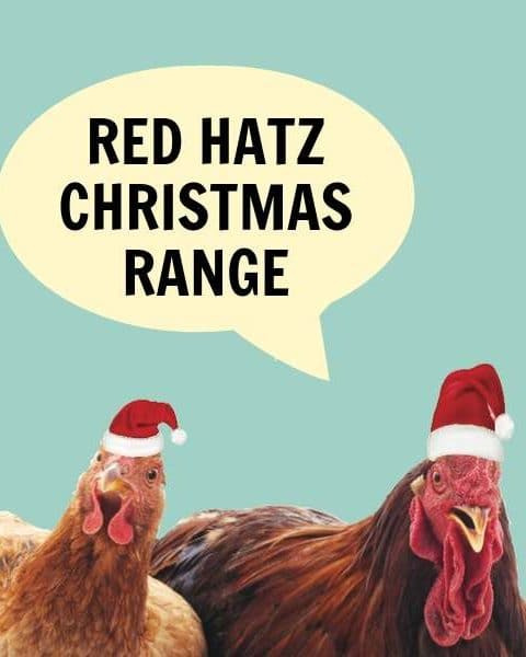 Red Hatz Christmas Cards